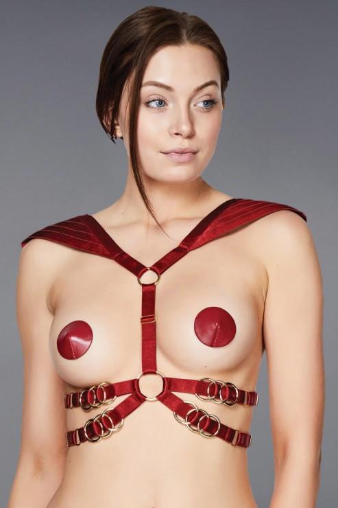 Bordelle Lingerie - Voyeur Body Harness - Rot