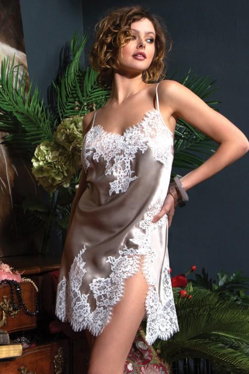 Marjolaine - Seiden Negligee - 3LYL0102-3874