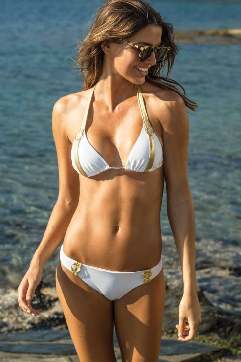 Eniqua - Belt Explorer White Gold - Triangel Bikini Set
