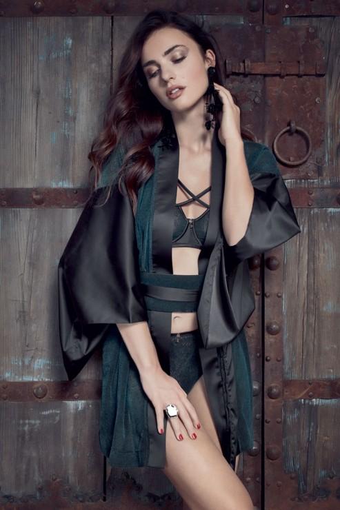 Escora - Amaya Kimono - Schwarz Grün