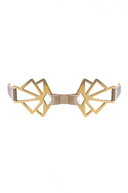 Bordelle Lingerie - Art Deco Collar - Karamel-Sand