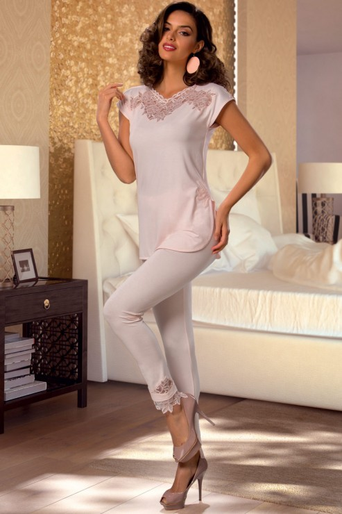 Cotton Club - Pyjama Set - Moschata/Celestial