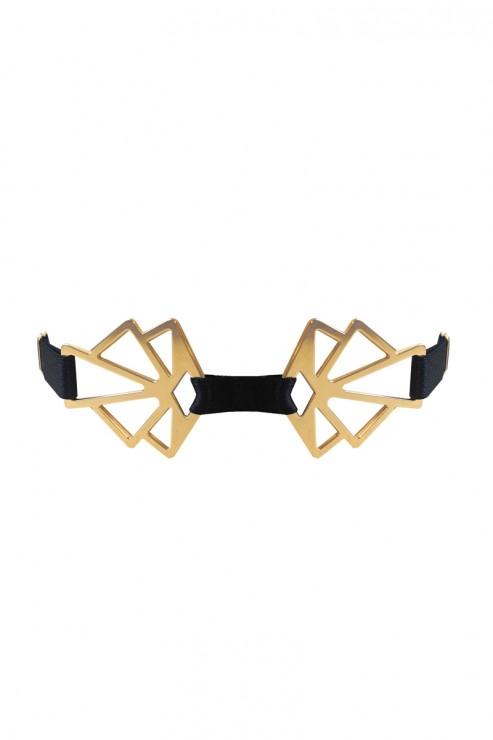 Bordelle Lingerie - Art Deco Collar - Schwarz