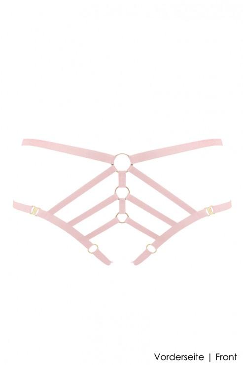 Bordelle Lingerie - Art Deco Ouvert Strap Brief - Rosa