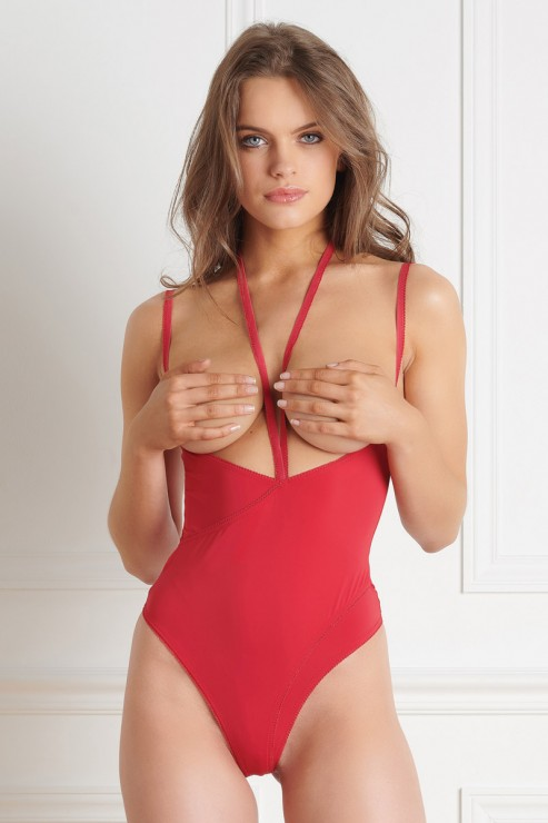 Maison Close - Le Petit Stringbody Ouvert - Rot