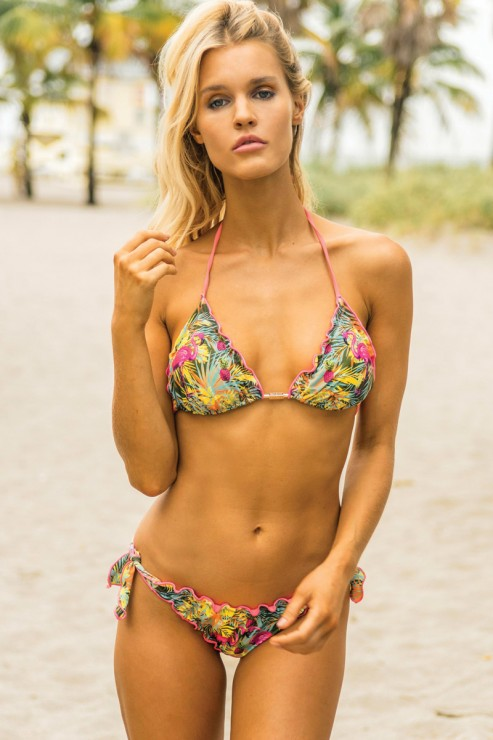 Eniqua - Flamingo Jungle - Triangel Bikini Set