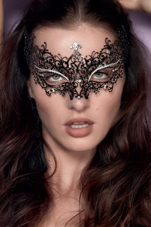 Escora - Marilyn Maske Swarovski - Schwarz