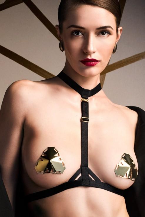 Bordelle Lingerie - Art Deco Harness - Schwarz