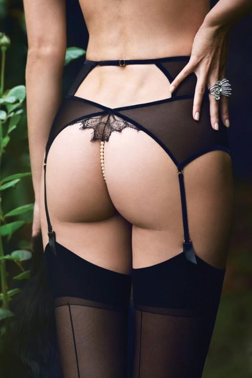 Bracli - Kyoto Strapsgürtel Perlenstring - Schwarz