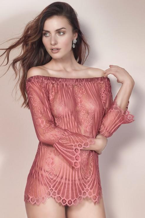 Escora - Josephine Carmen Shirt - Rosa