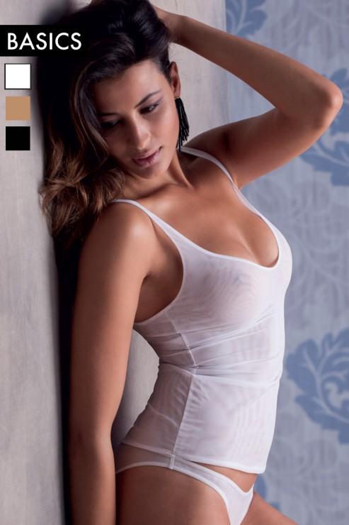 Cotton Club Basics - Lingerie Top Alida - Weiss