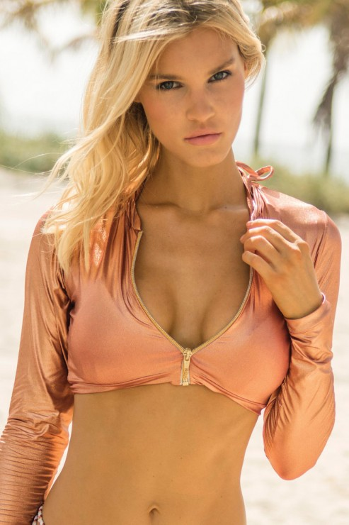 Eniqua - Pure Copper - Rashguard Beach Top