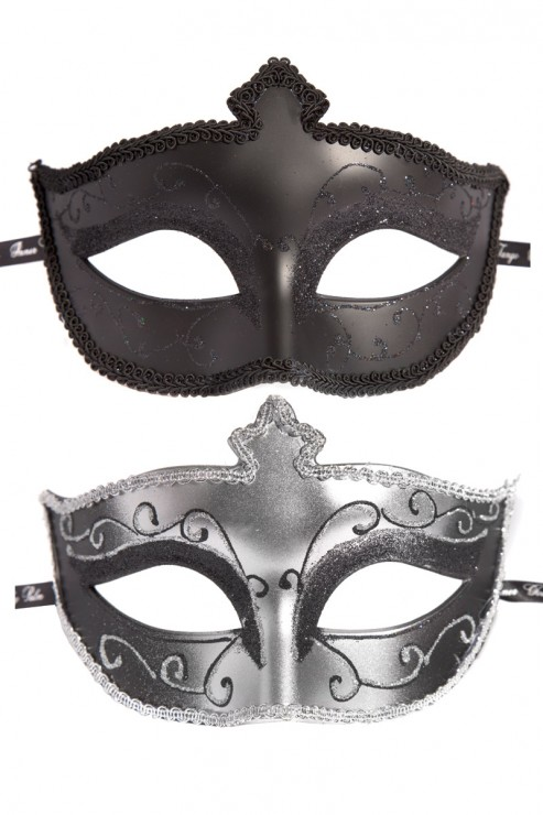 Fifty Shades of Grey - Masks On Masken Set - Schwarz Silber