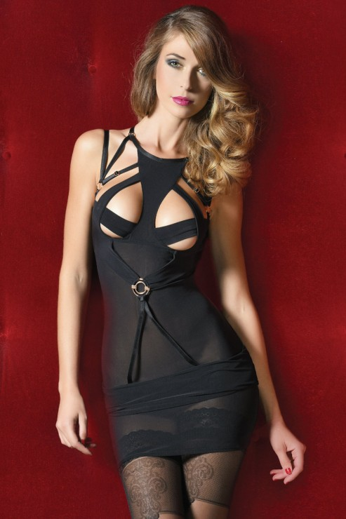Impudique - Sarah Minidress - Schwarz